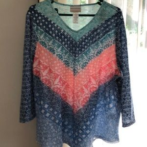 Alfred Dunner top. Multi colored